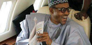 President Buhari in plane