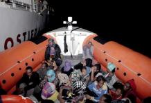 Italian Coast Guard rescues migrants and refugees bound for Italy. © IOM/Francesco Malavolta 2014