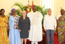 Ambassador Abdulai and Cuban Government Officials after the presentation of the letters of credence