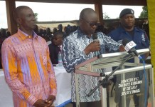 MR. Asomah-Cheremeh, BA Regional Minister delivering the inaugural address at Jinijini