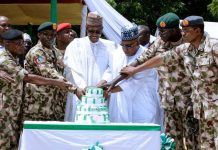 buhari visits troops in borno