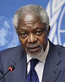 Former Secretary General of the United Nations Kofi Annan