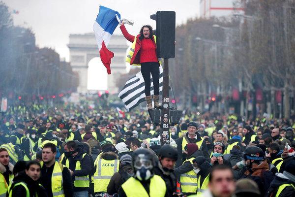 France yellow vest demonstrations during Nov.-Dec. 2018