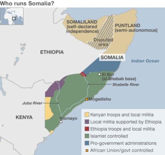 Somalia conflict map