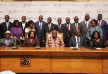 President Akufo-Addo with members of the Council on Foreign Relations Ghana.