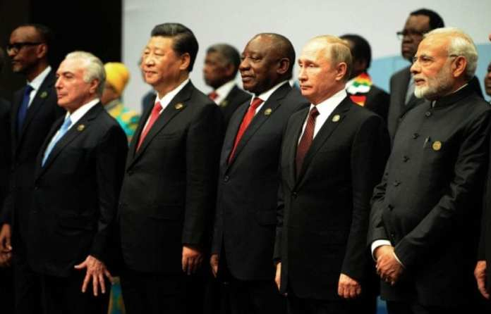 BRICS Heads of State, 27 July 2018 (Credit: GCIS/Flickr, CC BY-ND 2.0) (via: bit.ly)