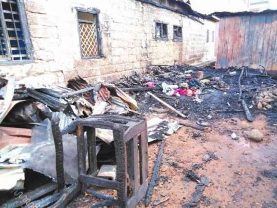 Fire Guts Houses At Ash Town In Kumasi