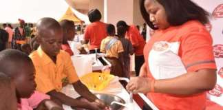 Unilever Ghana Some School Children Washing Their Hands During The Event