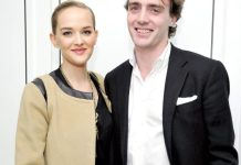 Jess Weixler and Hamish Brocklebank at Burberry and Fox Searchlight Pictures honour the cast and filmmakers of 'Brooklyn' at Burberry on January 5, 2016 in Beverly Hills, California. John Sciulli/Getty Images for Burberry