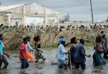 Mozambique Cyclone Idai Damage Where Civilians Walked Through Flood Waters Seeking Relief And Shelter Photo From Cbc
