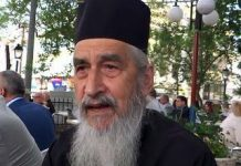 Father Nikodim Tsarknias, well-known Macedonian human rights activist from Sobotsko, in the Voden region of Aegean Macedonia (annexed by Greece after Macedonia's partition in 1913)