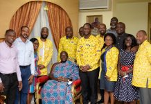 Mr Selorm Adadevoh Ceo Of Mtn And Other Mtn Executives In A Pose With Otumfuo