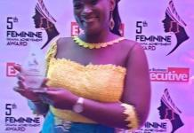 Mrs Jemima Kotei Walsh Mtn Customer Relations Executive Displays Her Award