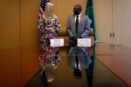 Ivanka Trump, and H,E, Kwesi Quartey, Deputy Chairperson, African Union