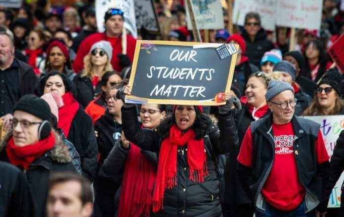 Chicago Teachers Strike during October 2019