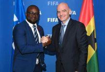 GFA President Kurt Okraku at fifa