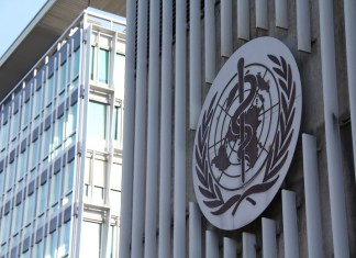 Photo taken on Jan. 22, 2020 shows an exterior view of the headquarters of the World Health Organization (WHO) in Geneva, Switzerland. The WHO on Wednesday night extended to Thursday its emergency talks on whether the novel coronavirus outbreak in China constitutes a Public Health Emergency of International Concern (PHEIC). (Xinhua/Liu Qu)
