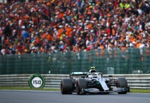 Lewis Hamilton of Mercedes drives during the Formula 1 Belgian Grand Prix at Spa-Francorchamps Circuit, Belgium, Sept. 1, 2019. (Xinhua/Zheng Huansong)
