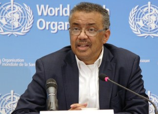 Tedros Adhanom Ghebreyesus, director-general of the World Health Organization (WHO), speaks at a press conference after the WHO emergency committee's meeting on the novel coronavirus in China at its headquarters in Geneva, Switzerland, Jan. 22, 2020. (Xinhua/Liu Qu)