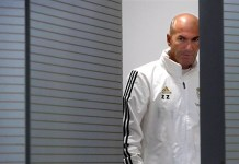 Real Madrid's French head coach Zinedine Zidane attends a press conference at Valdebebas sport complex in Madrid, Spain, 29 October 2019. Real Madrid will face CD Leganes in their Spanish La Liga soccer match on 30 October 2019. EPA/JUAN CARLOS HIDALGO