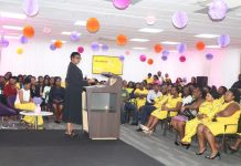 Her Ladyship Justice Sophia Akuffo Former Chief Justice Of Ghana Delivering Her Message At The Forum To Commemorate International Womenu S Day At Mtn House