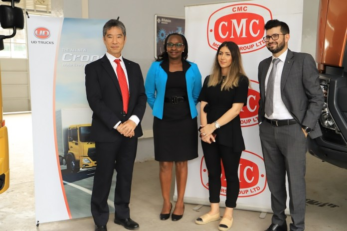 From left......UD Trucks Senior Product Manager the Middle East, East & North Africa, Mikito Maruyama, Doreen Chebet, Sales Manager UD Trucks, Majda Tochdi- Marcom Director and Jeferson Machado Sales Director UD Trucks East Africa during the consultative meeting at CMC AL-FUTTAIM Nairobi.