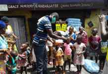 Distributio Of Items To Street Children In Kumasi