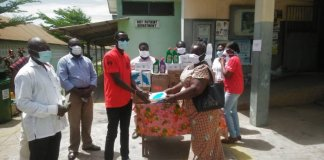 Moba Presents Ppes To Cape Coast Metro Hospital