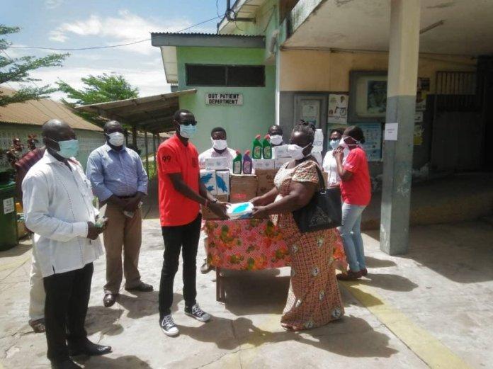 Moba Presents Ppes To Cape Coast Metro Hospital