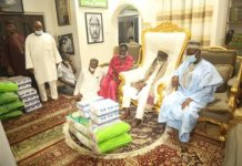 Togbe Afede Xiv Donates To Chief Imam