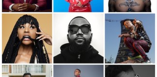 Def Jam Africa Artists. Top row L-R / Larry Gaaga,, Boity, Tshego / Middle Row L-R. Nadia Nakai, Cassper Nyovest, Nasty C / Bottom Row L-R. Ricky Tyler, Vector, Tellaman
