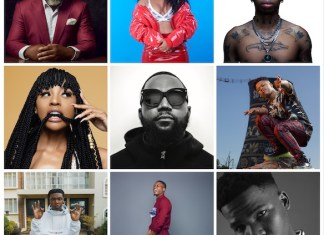 Def Jam Africa Artists. Top row L-R / Larry Gaaga,, Boity, Tshego / Middle Row L-R. Nadia Nakai, Cassper Nyovest, Nasty C / Bottom Row L-R. Ricky Tyler, Vector, Tellaman