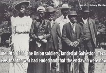African American Photo And Graphic Commemorating Juneteenth
