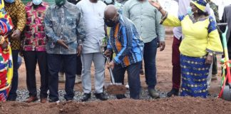 President Akufo-Addo cuts sod for 15 million euro waste treatment plant in Bono East