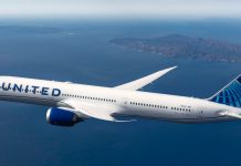 United Airlines Boeing Dreamliner