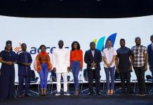 Dt Xkjwvq Olumide In White With Access Bank Team And Cast Of The Series