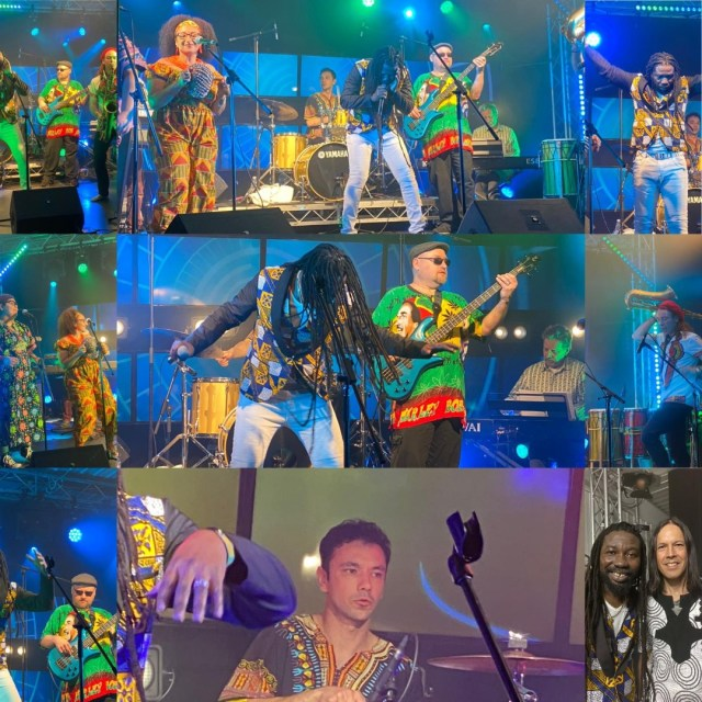 Ras Minano And The Hope Of Africa In A Live Performance