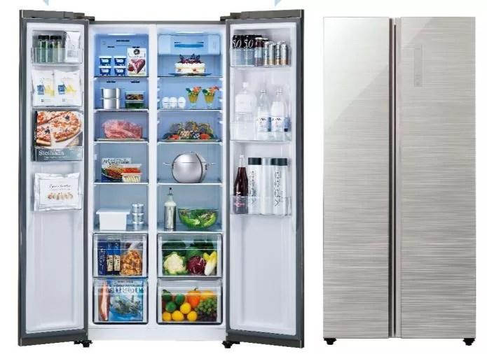 欧米スタイルの冷蔵庫「パノラマ・オープンAQR-SBS45F」が発売