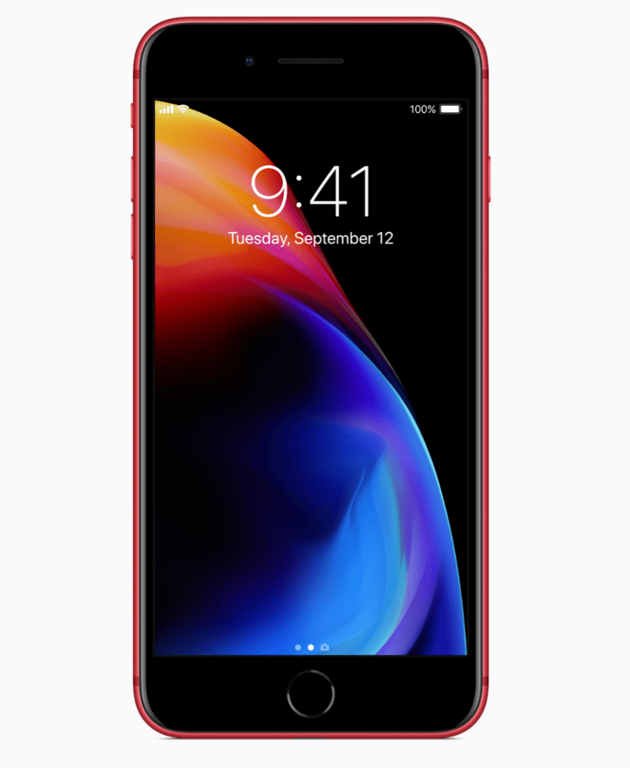 「iPhone 8/8 Plus (PRODUCT)RED Special Edition」のフロントパネル