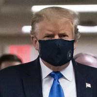Finally POTUS Donald Trump wore a mask in public