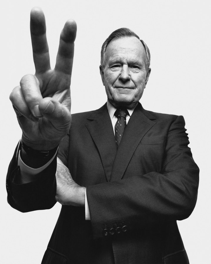 Former President George H. W. Bush, at 86. Portrait by Platon, via PBS