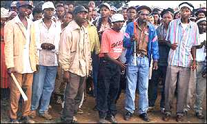Members of Mungiki, the Kikuyu fundamentalist sect