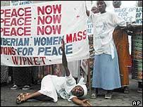 Woman peace marchers
