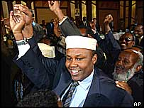 Hussein Aideed, other faction leaders, at peace talks in Kenya  2004