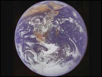 Planet Earth from outer space.