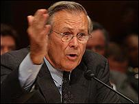 Donald Rumsfeld, secretario de Defensa de Estados Unidos