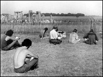 The first Stonehenge Free Festival 1974 © Austin Underwood from BBC site