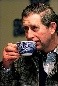 Even the Prince drinks tea.
