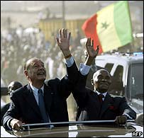 Chirac goes native in Senegal