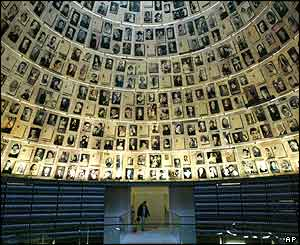 Hall of Names featuring hundreds of photographs